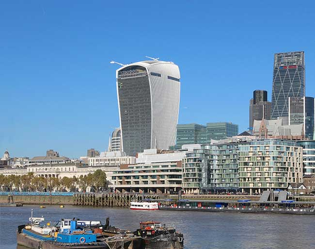 GRP Water tanks for the famous Walkie Talkie Building
