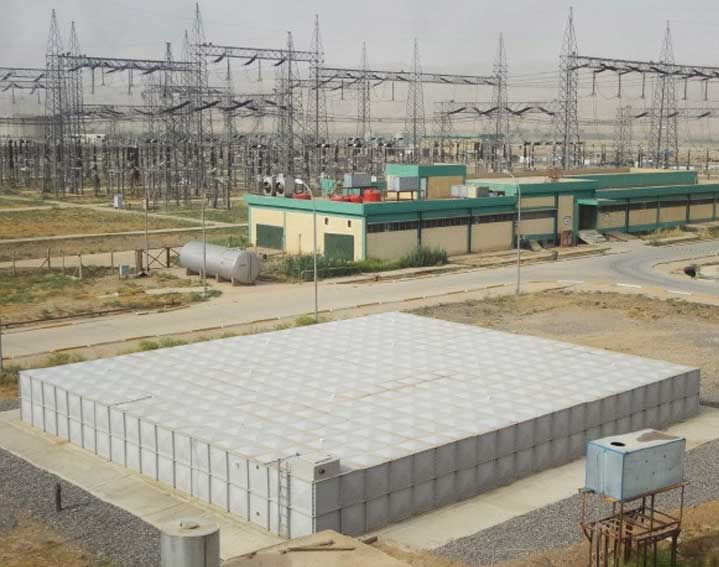 Large sectional water tank project in Iraq