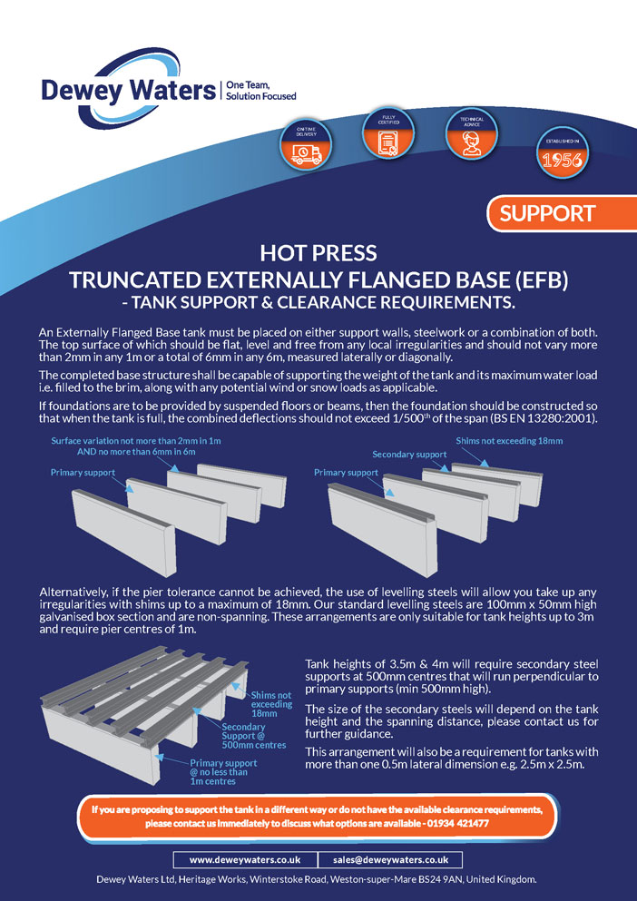 truncated externally flanged base (EFB)