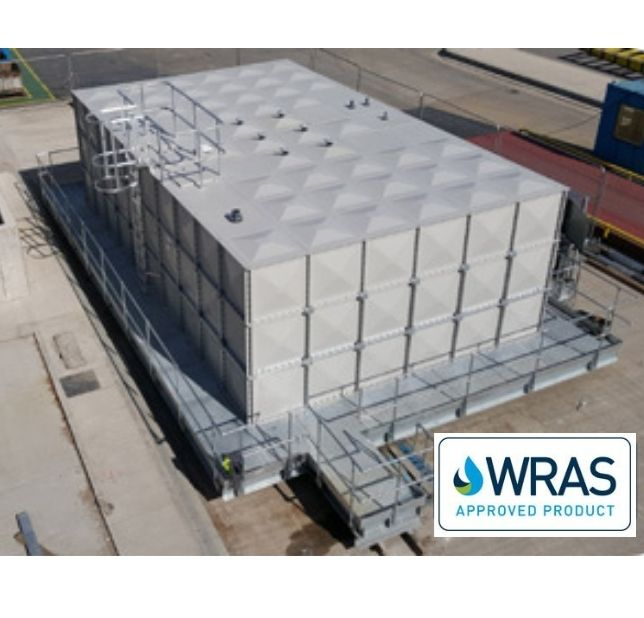 sectional tank wras approved grp tanks