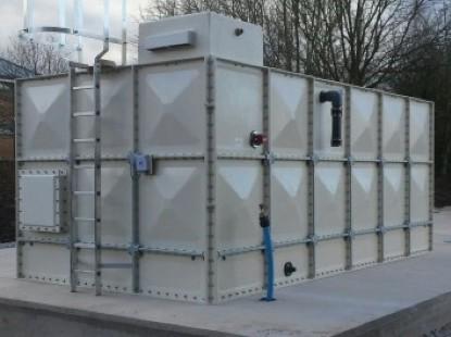 Deeside College Water Tank Installation