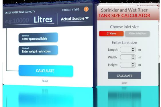 dewey waters water tank calculator tools